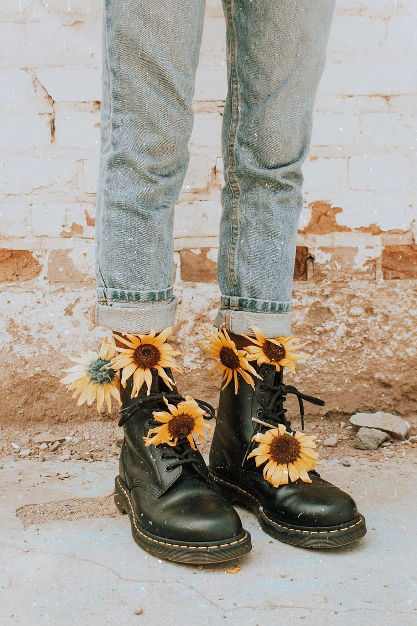 yellow dr.martens Outfit | ShopLook