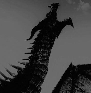 dragon, monochrome, dragon aesthetic and fantasy aesthetic