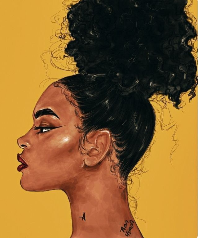 yellow, hairstyles, melanin and art