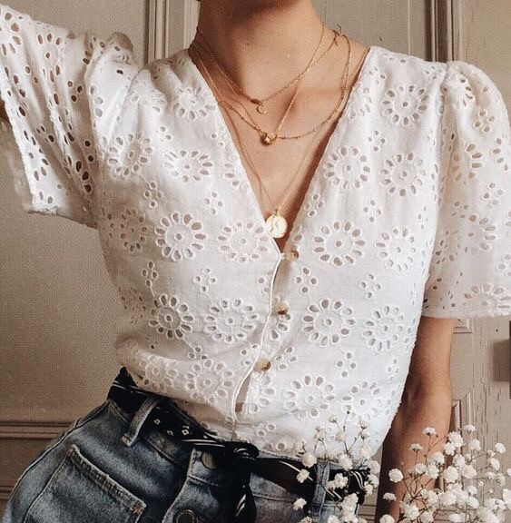 blouse, flowers and style