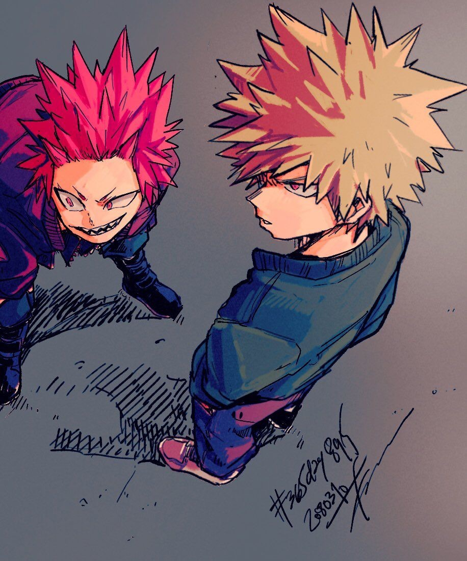 kiribaku, bakugo, anime and bakushima