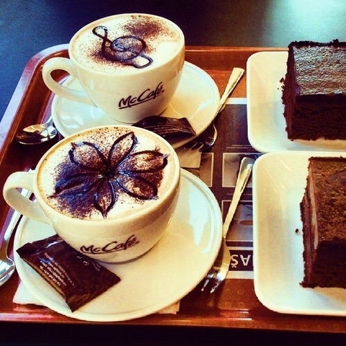 latte art, chocolate, food and cafe