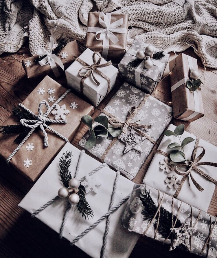 gift, christmas and winter