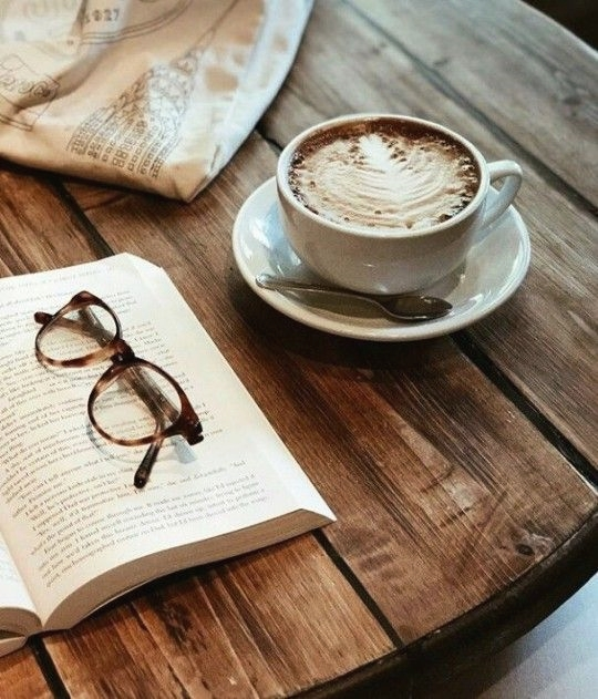 coffee art, book, drink and morning