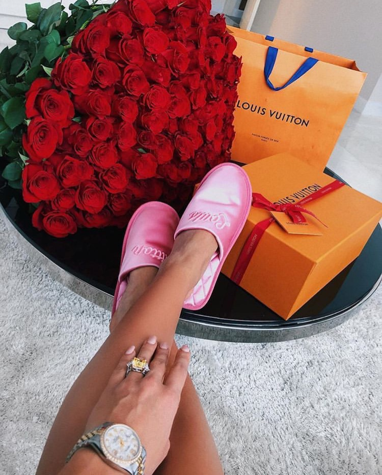 louis vuitton, slippers and ring