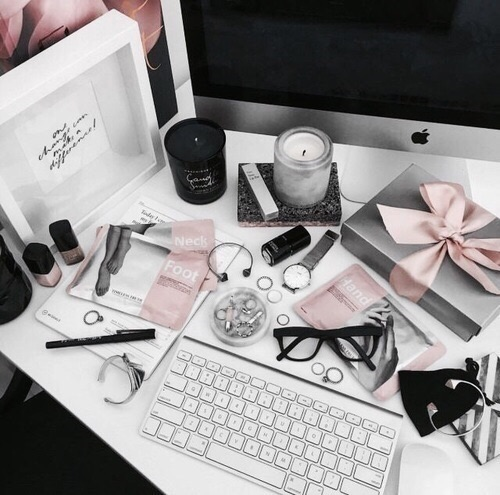 instagram, pink and gray, grey and pink and themes