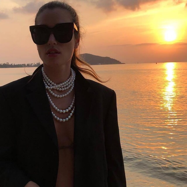 necklace, sunglasses and jewellery