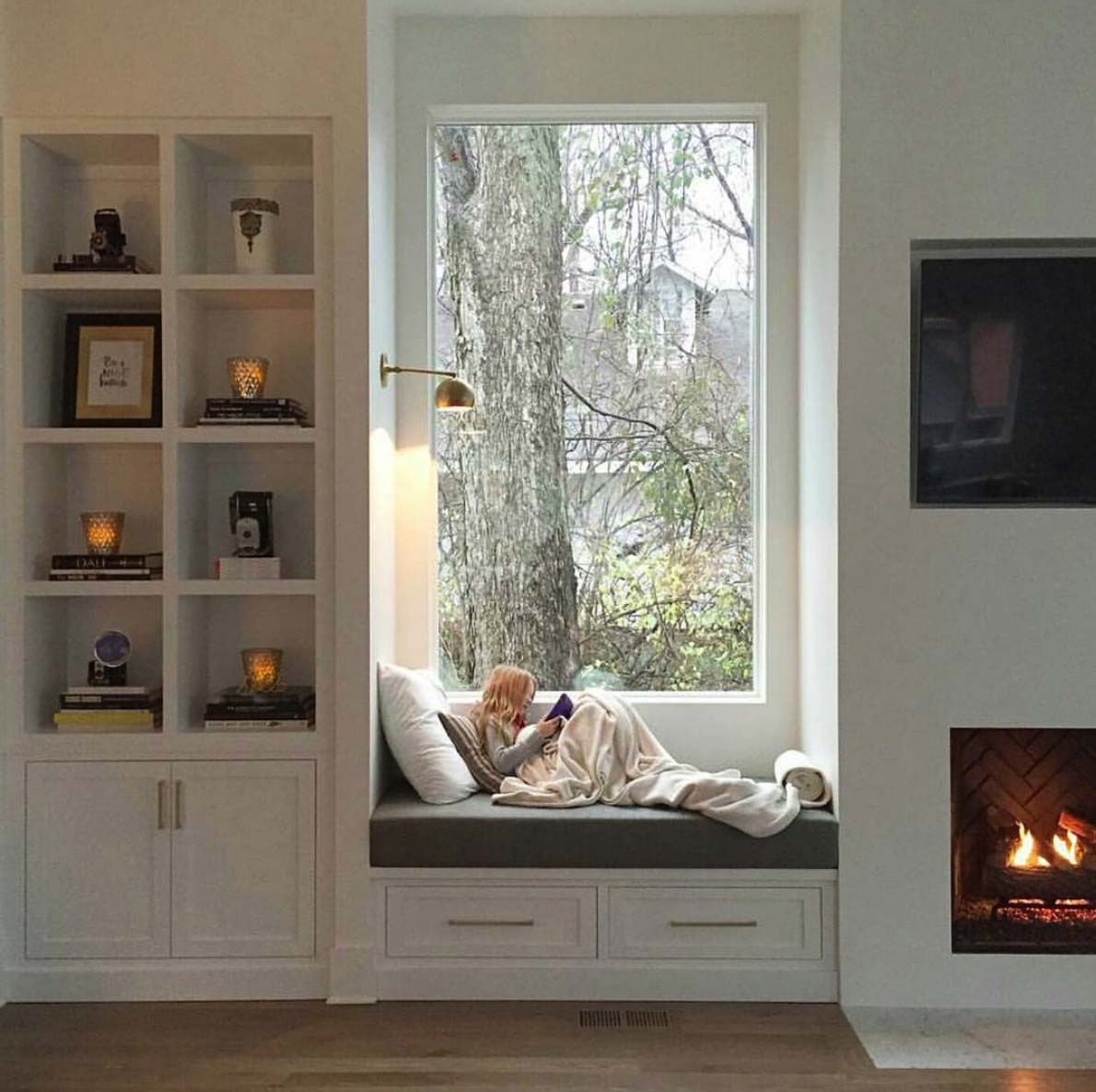 reading nook ideas, fireplace, inspiration and inspiring interiors