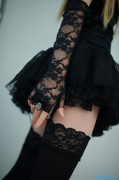 beauty, black, black dress and fashion