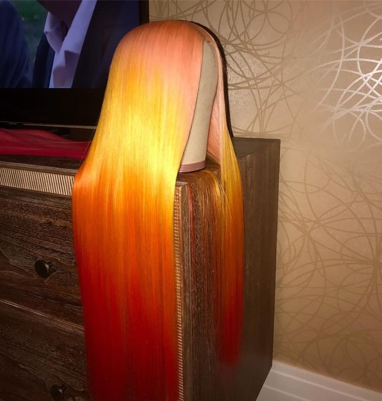 straight, bundles and wig