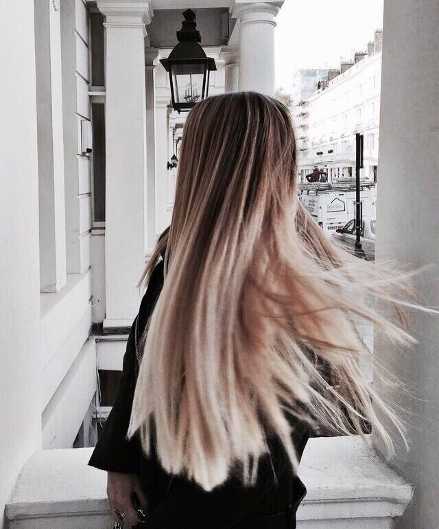 blonde, fashion and ombre