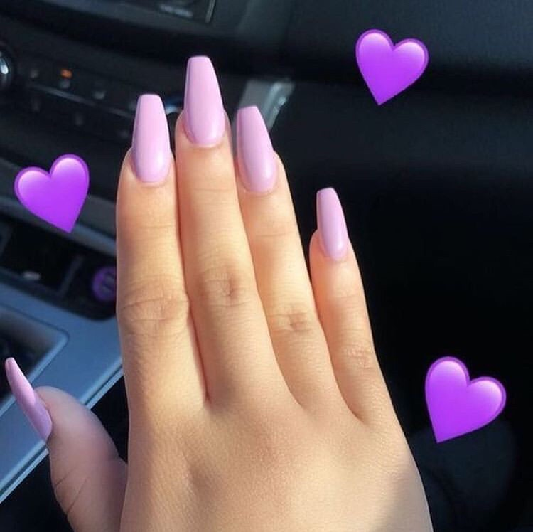 purple acrylics, acrylics, acrylic nails and purple theme