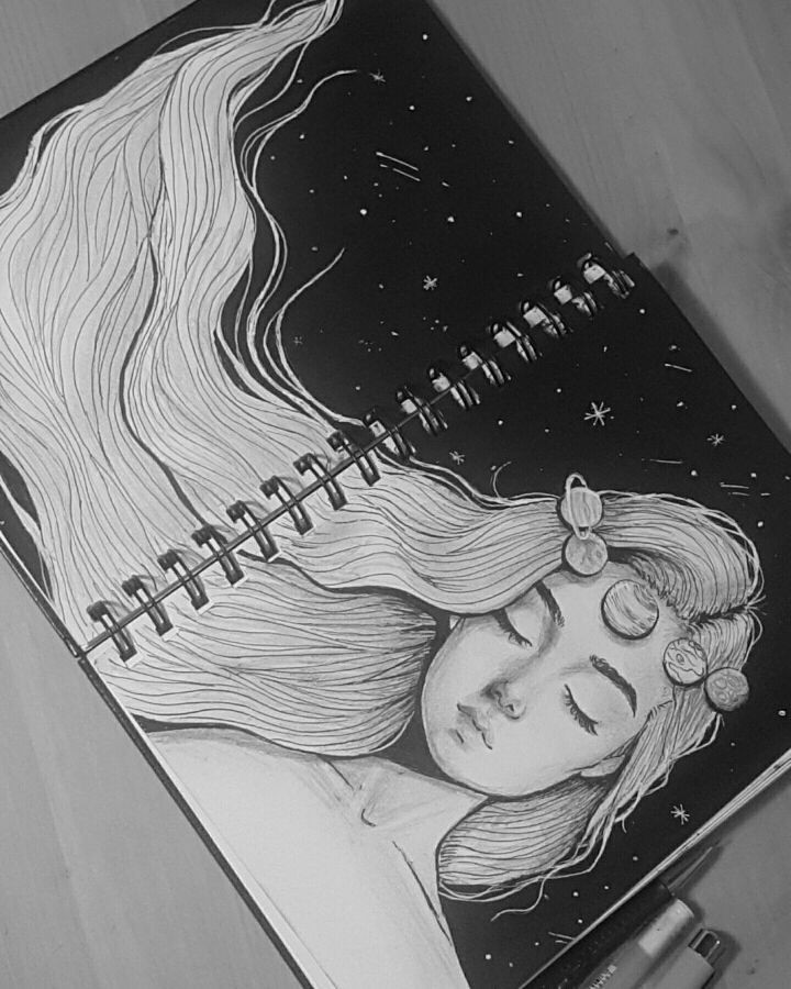 beauty, journal and painting
