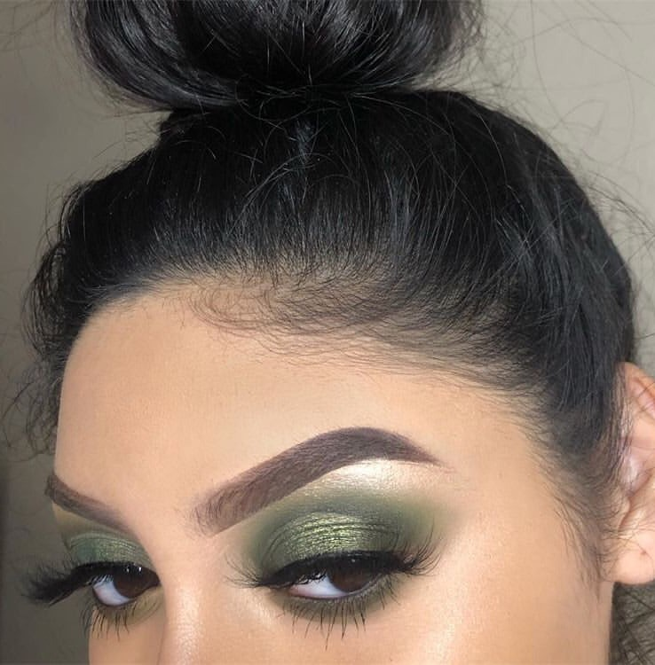 lashes, makeup, beauty goals and green