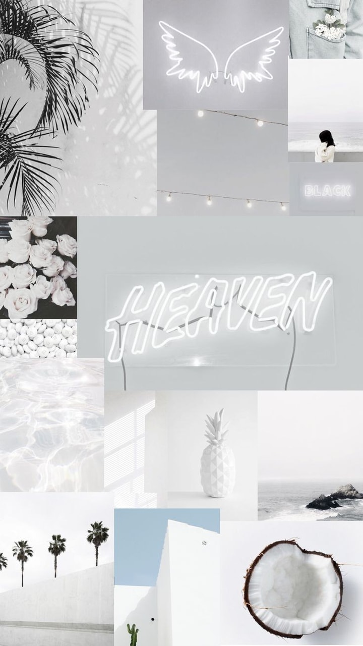 Collage Wallpaper Fonds And Whithe Image 6927639 On Favim Com