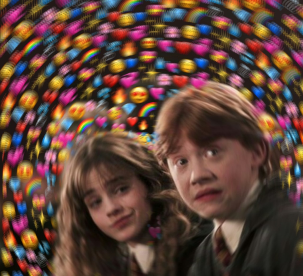 romione, rony, harry potter and hermione granger