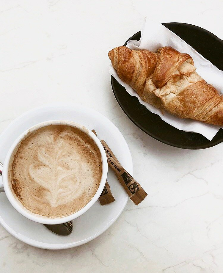 cup of coffee, black, but first coffee and foods