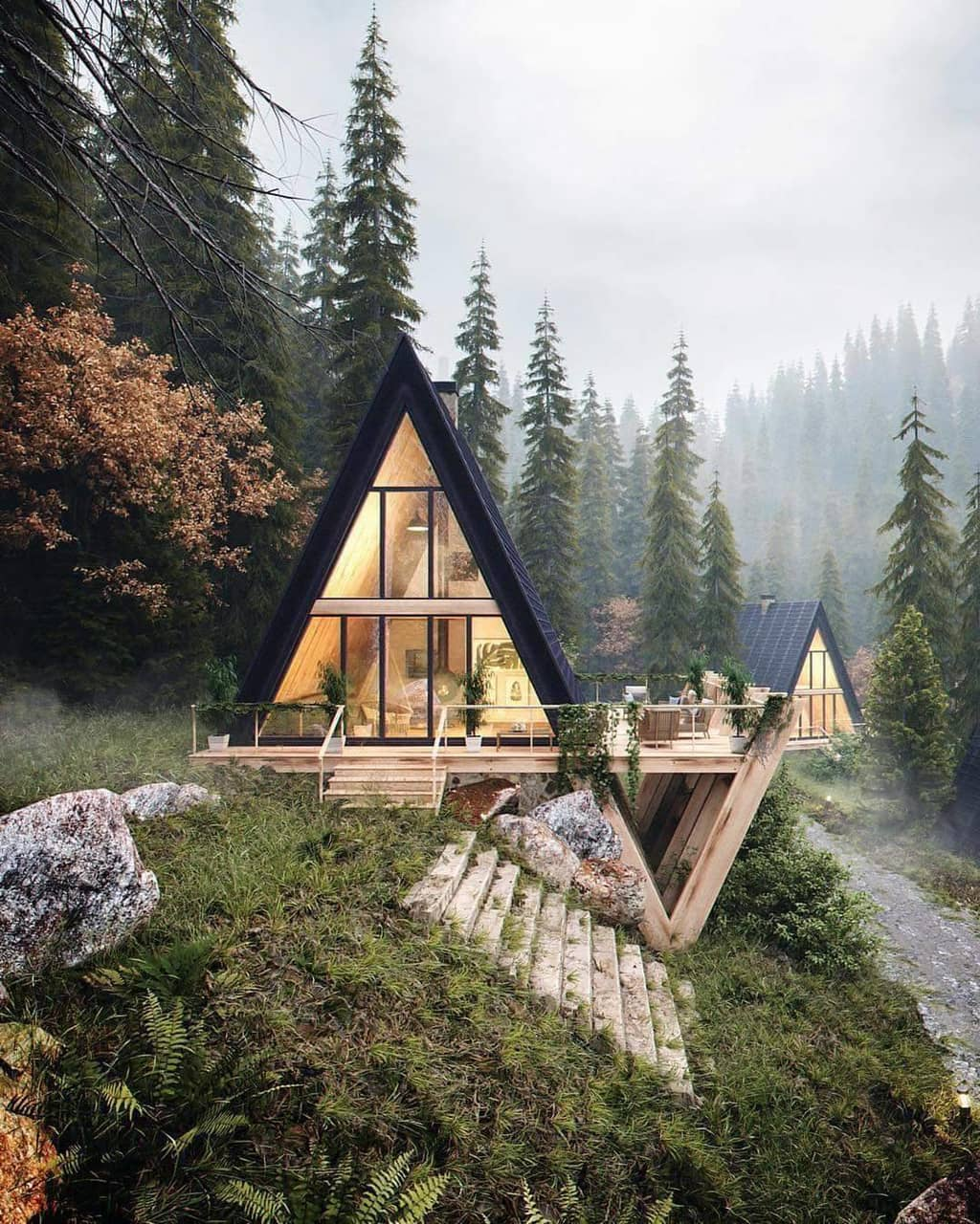 mountain cabin, nature, cozy and mountain living