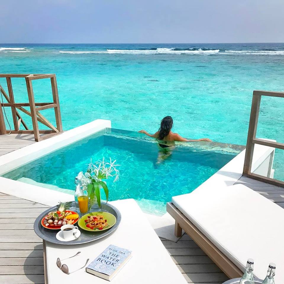 resort, vacation, traveling and maldives