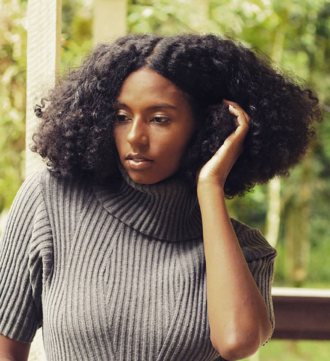 curly fro, kinky hair, thick hair and curly hair