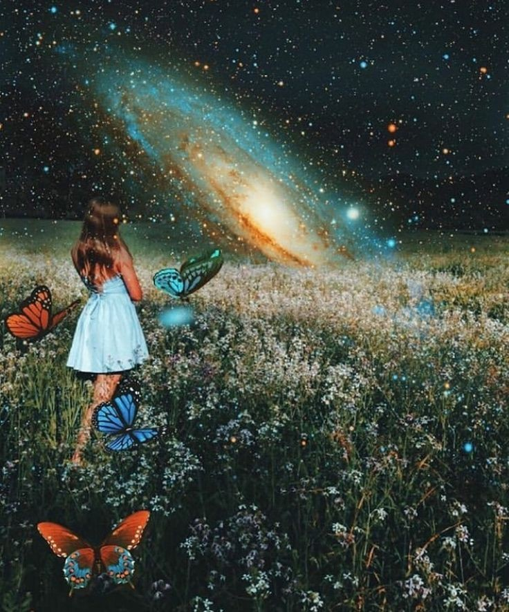 galaxy, grunge, stars and space