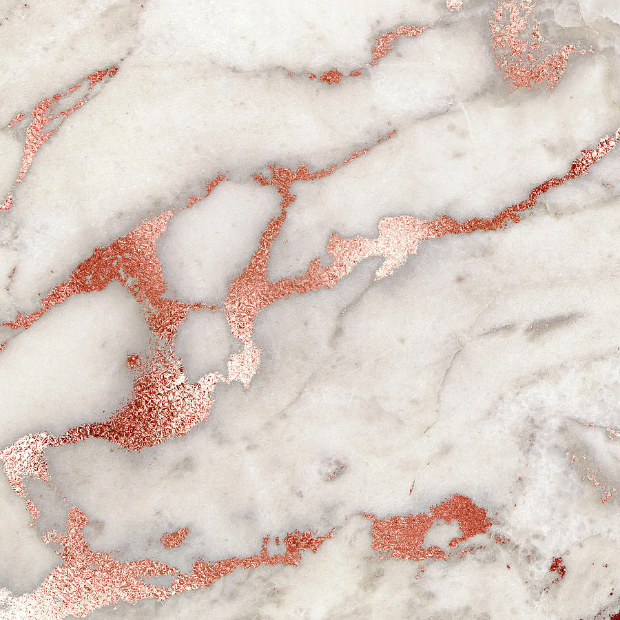 bacground, rose gold and marble