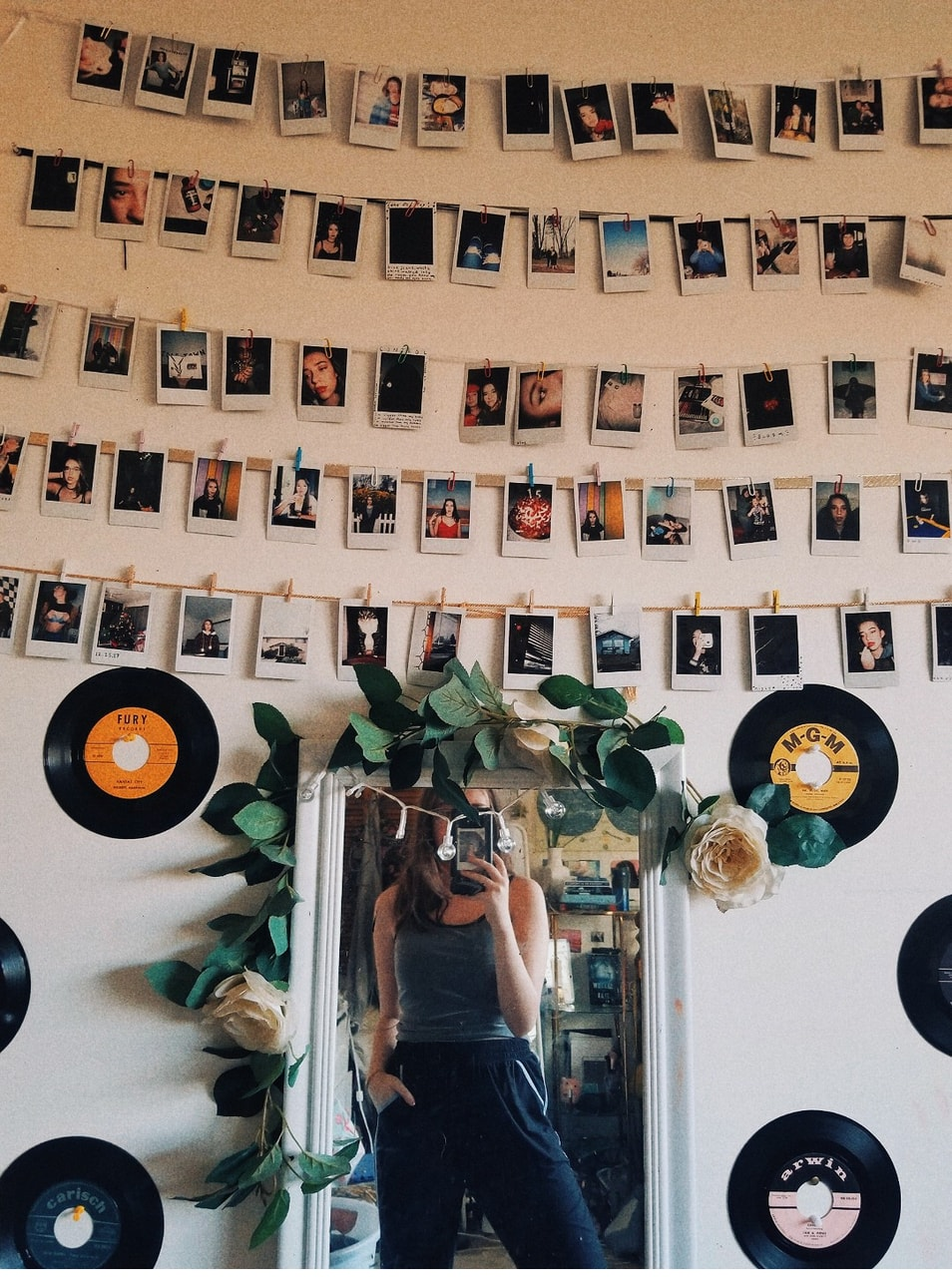 Polaroidwall Recordwall Aesthetic Room And Vinyl Image 6991830 On Favim Com