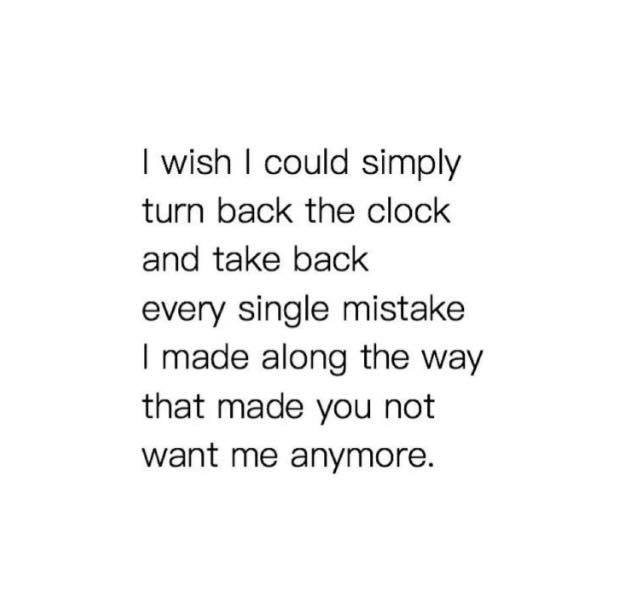 wish, turn back clock, turn back time and i