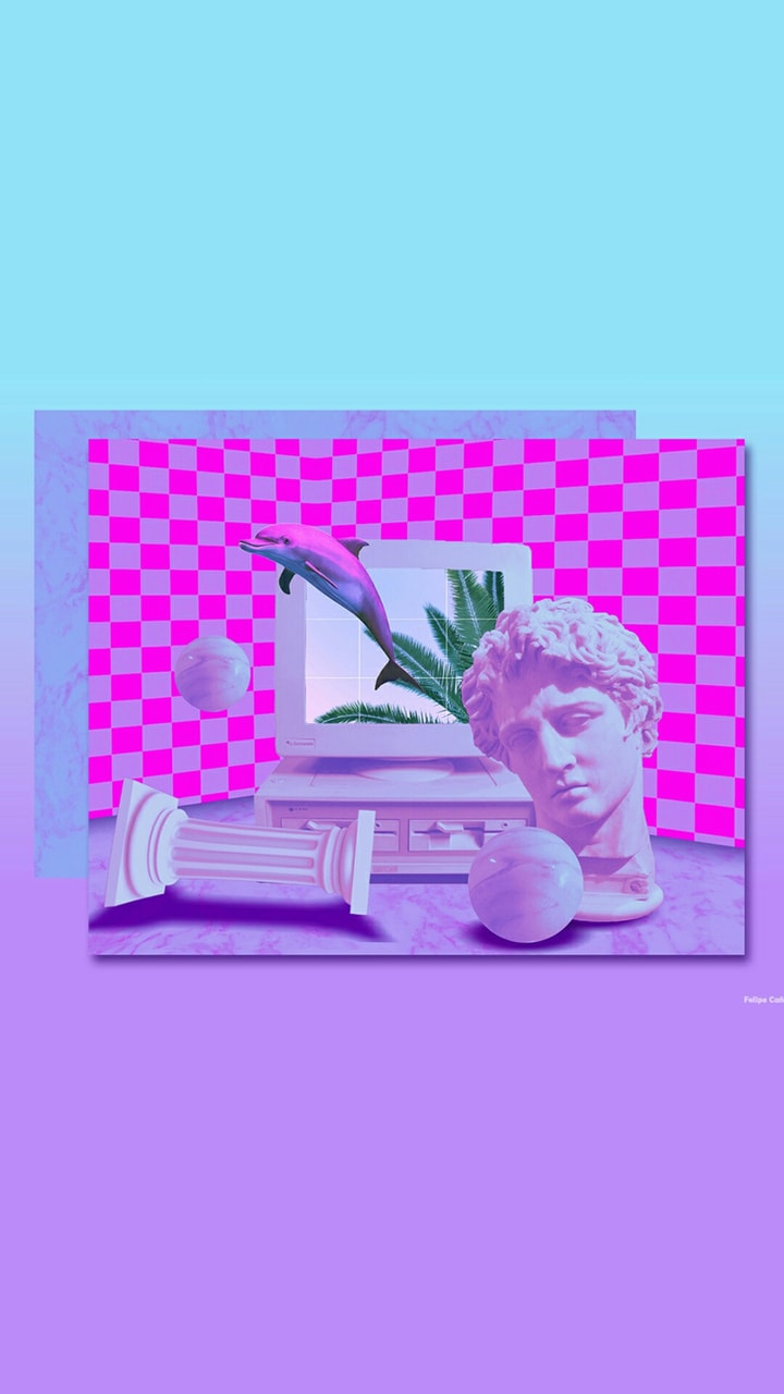 lockscreen, vaporwave, wallpapers and vaporwave wallpapers