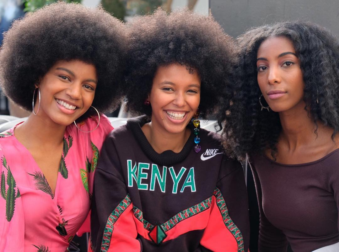 beauty, brown skin, frizzy hair and tight curls