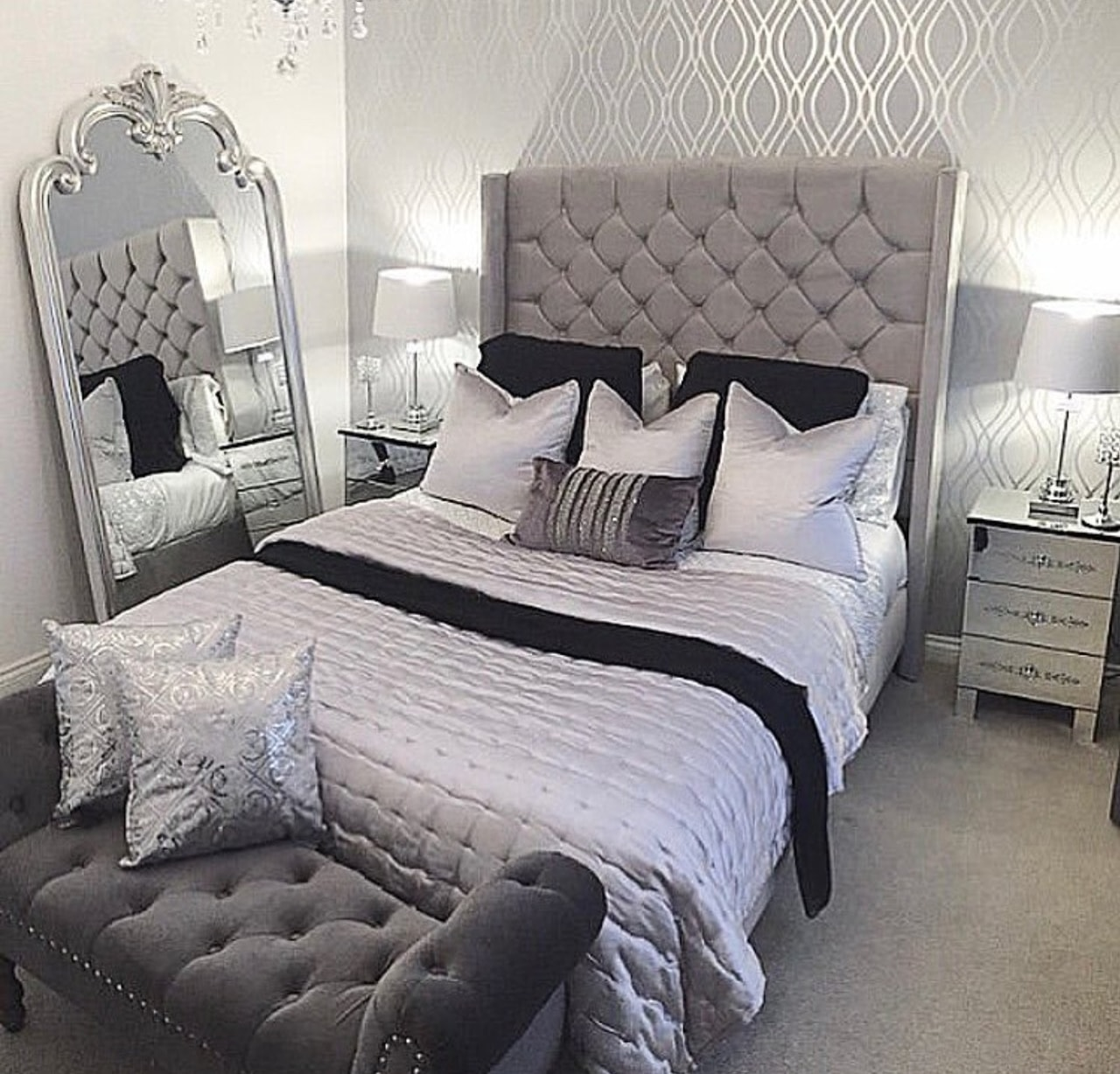 bedroom, decor, luxury and home inspiration
