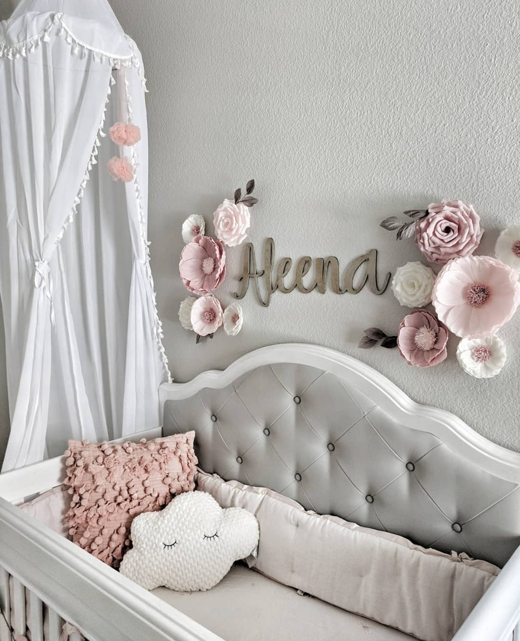 baby girl room, flowers, baby girl and home