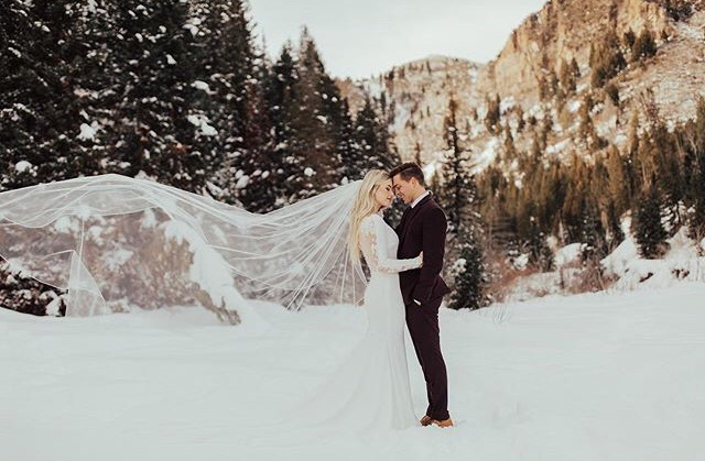 winter, photoshoot, veil and love