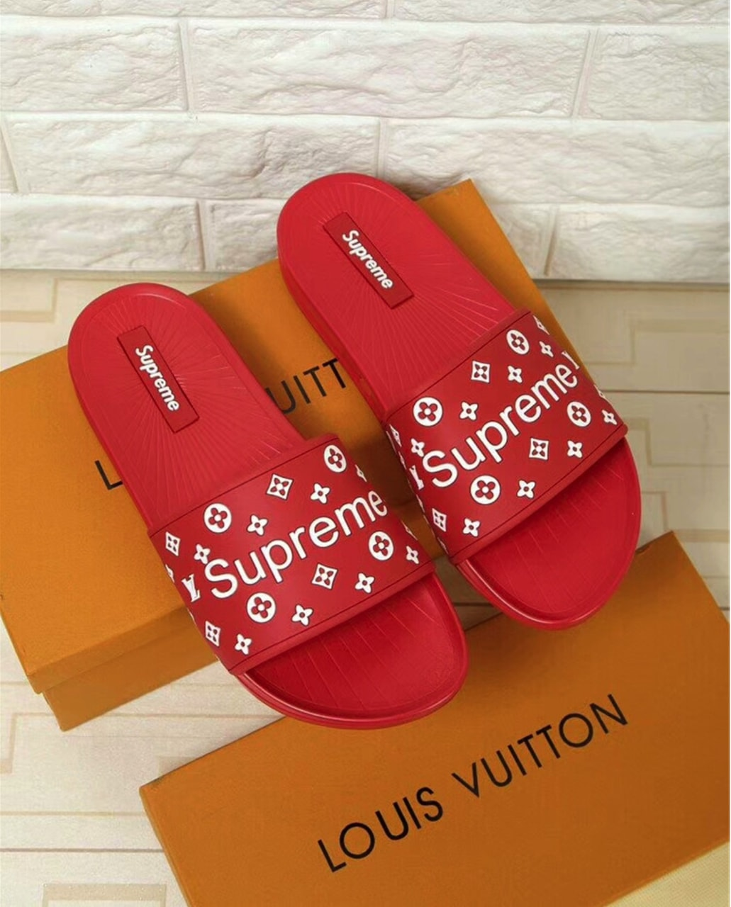 beachy, red, louis vuitton and flip