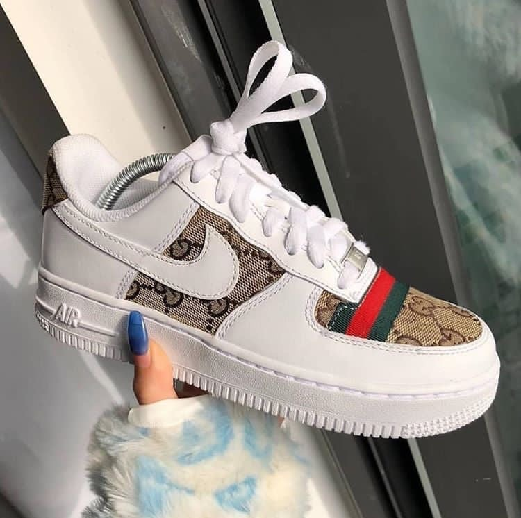 gucci, white, nude and nikeair - image