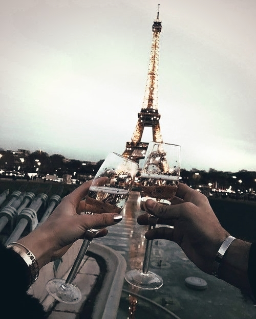 champagne, buildings, wine and eiffel tower