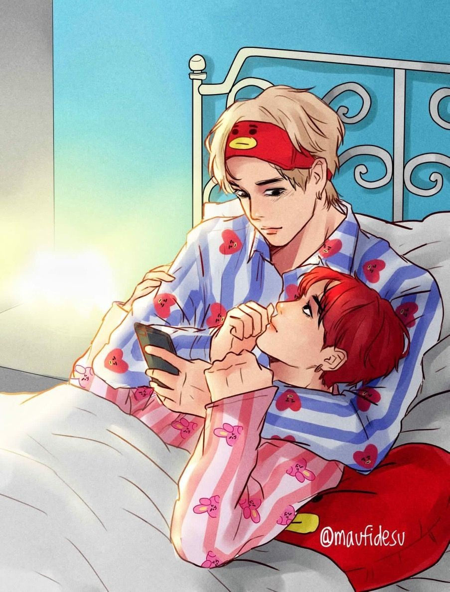 kpop, fanart, yaoi and vkook