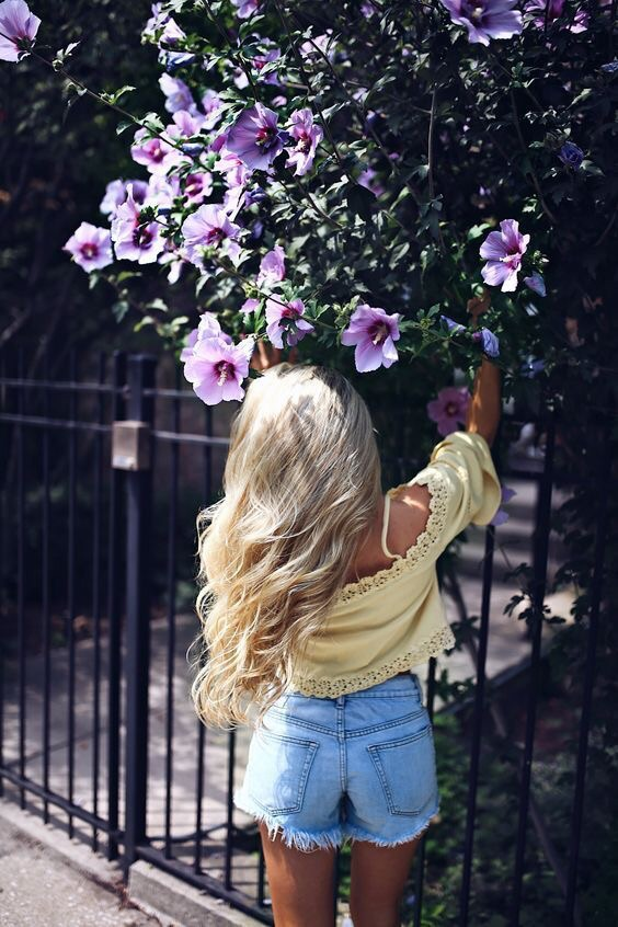 jeans, beautiful, hair and flowes