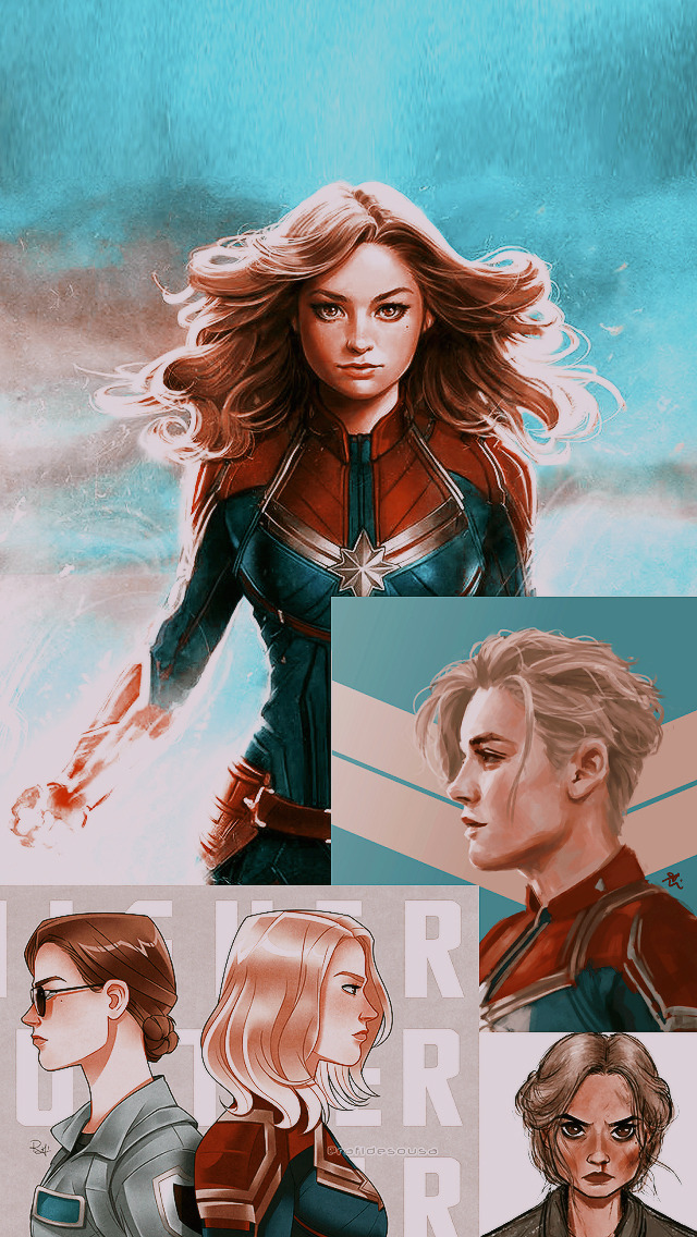 brie larson lockscreen, vers lockscreen, captain marvel lockscreen and carol danvers