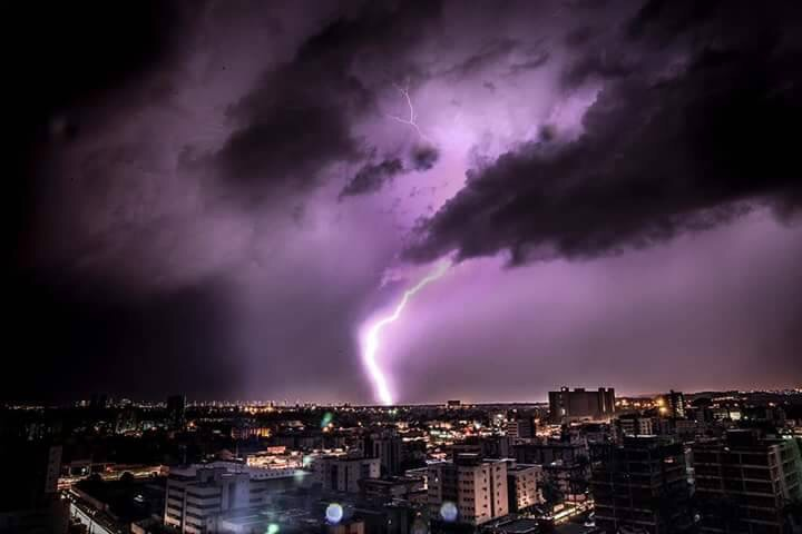 tumblr, clouds, purple thunder and purple storm