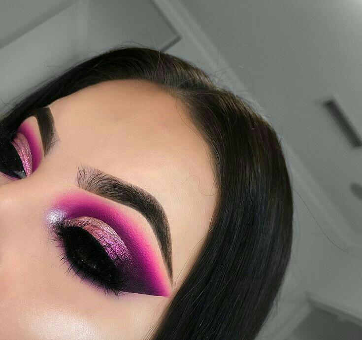 idea maquillaje, face, eyes and pink