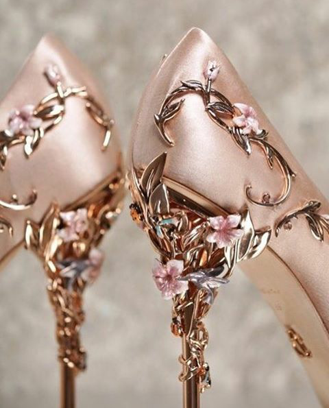 rose gold high heels, rose gold aeathetic, rose and aesthetic