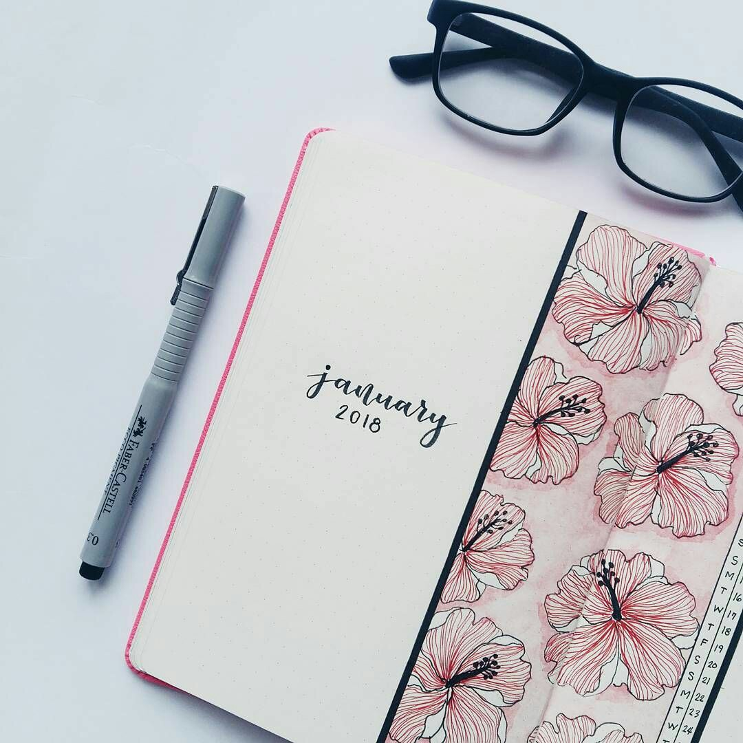 bujo, monthly, month log and organize