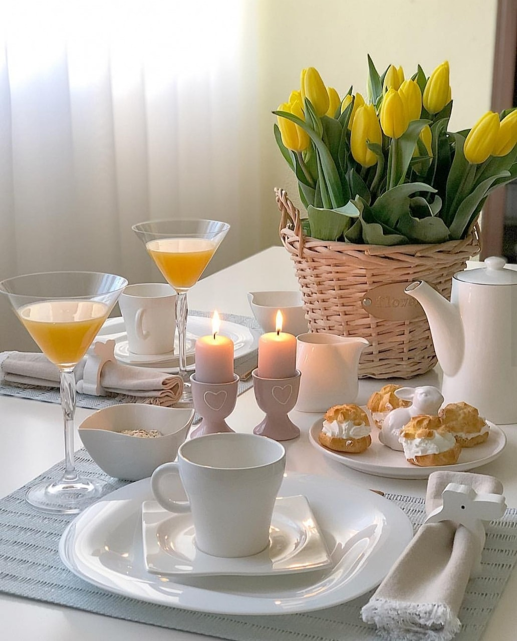 coffee time, bouquet of flowers, beautiful life and good morning