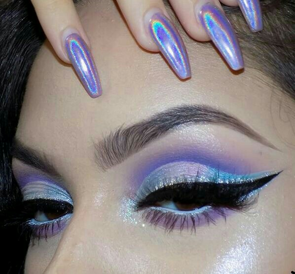 maquillaje, tumblr girl, holographic and beauty