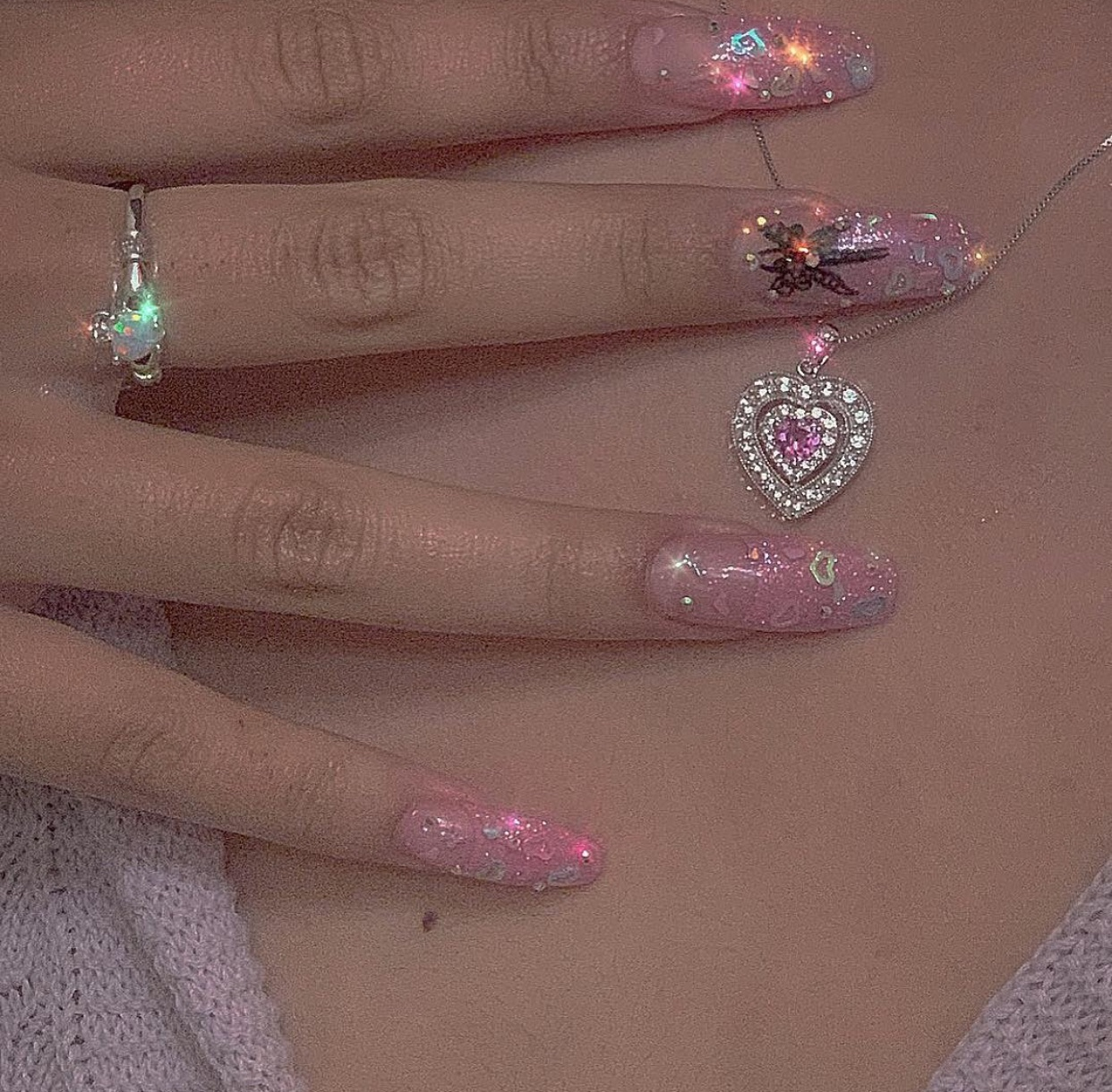 tumblr inspo, long nails, perfect inspiration and perfect outfit