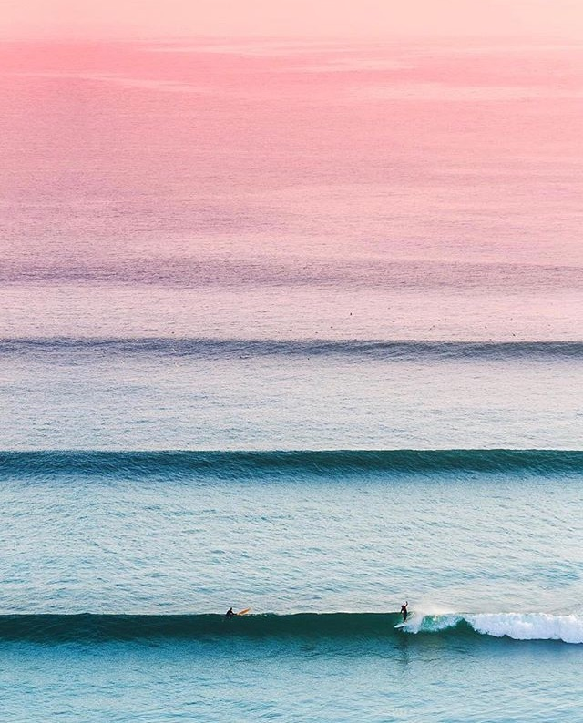 summer, surf, pink and sunset