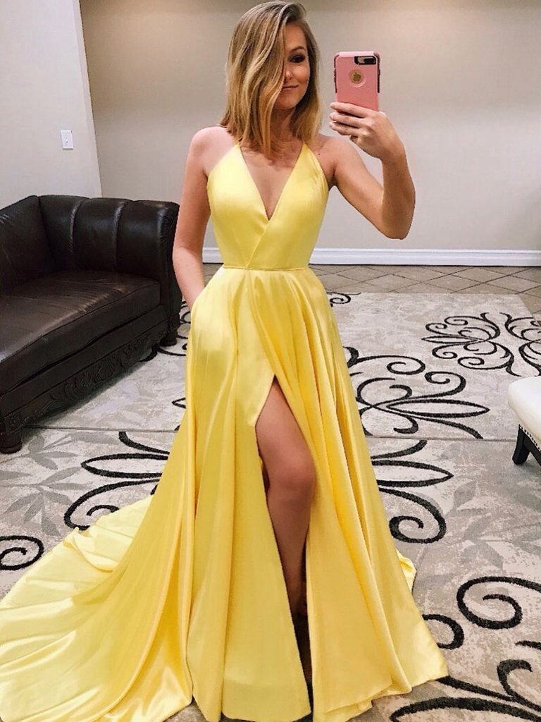 evening dresses, formal dresses, prom and yellow prom dress