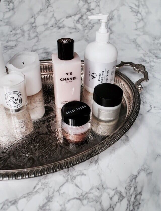 products, marble, cleanser and chanel