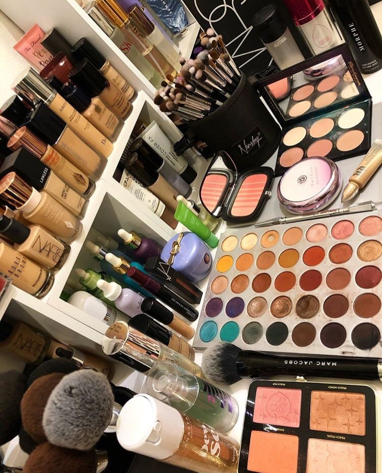 vanity, makeup collection, beauty and beauty goals